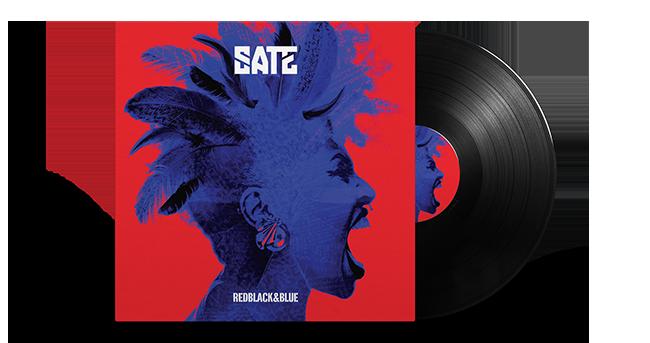 Cristal Records - Sate - Red Black & Blue - Vinyl Mockup