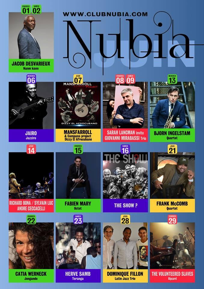 Nubia concert Juin