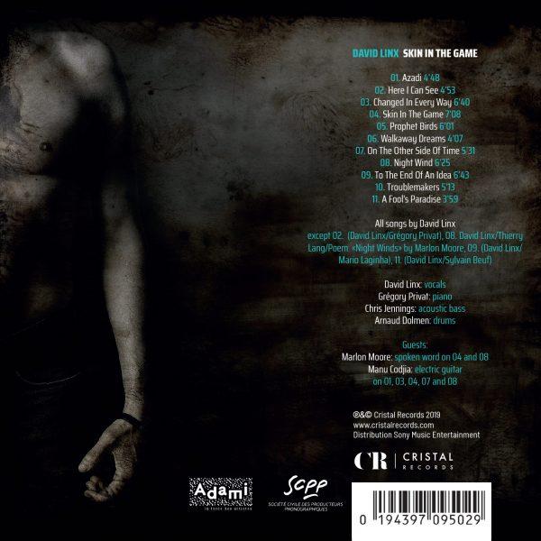 Cristal Records - David Linx - Skin In The Game - Back