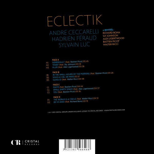 CRV001 - 3521381566468 - André Cecarrelli - Hadrien Féraud - Sylvain Luc - Eclectik - BACK