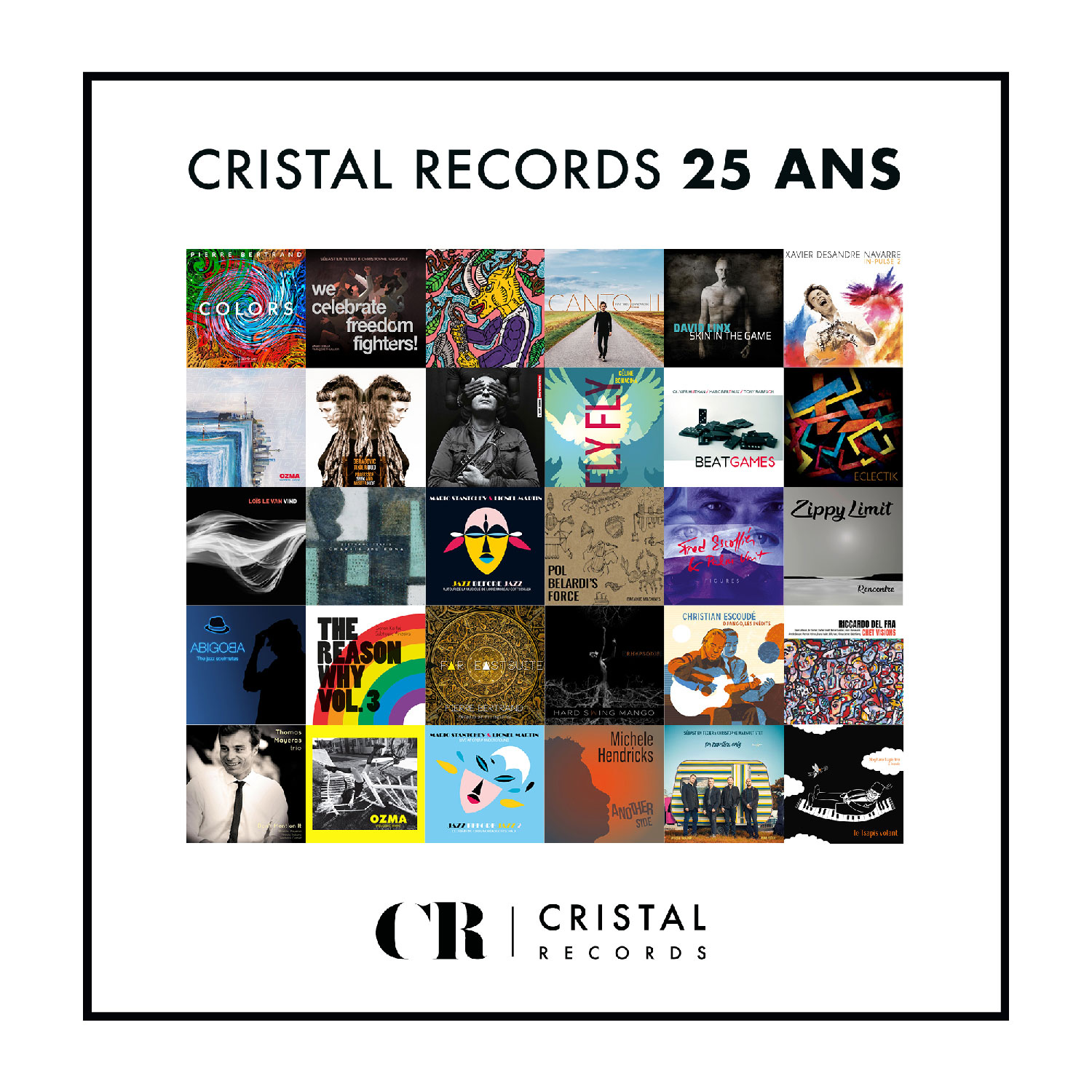 Cover - Playlist 25 ans - Cristal Record