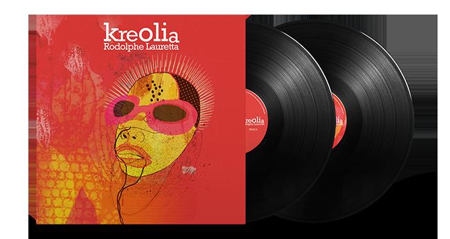 Cristal Records - Rodolphe Lauretta - Kreolia - Vinyl - Mockup